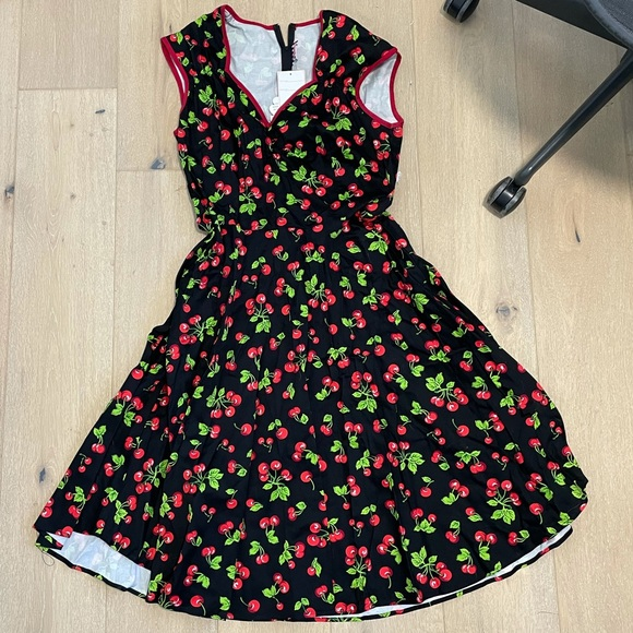 Pinup girl couture Heidi cherry dress 1x